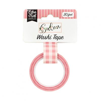 Echo Park Salon Washi Tape - Pink Buffalo Plaid